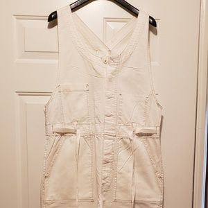 Free People off white jumpsuit, like new.